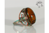 Antique amber ring - Antik borostyán gyűrű